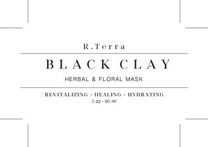 Black Clay - Herbal & Floral Mask -  Revitalizing - Healing - Hydrating