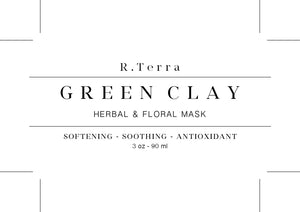 Green Clay - Herbal & Floral Mask - Cleaning - Astringent - Detoxifying