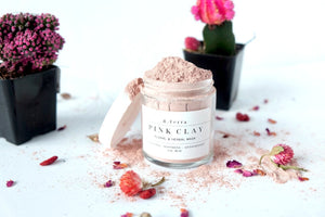 Pink Clay - Floral & Herbal Mask - Softening - Soothing- Antioxidant