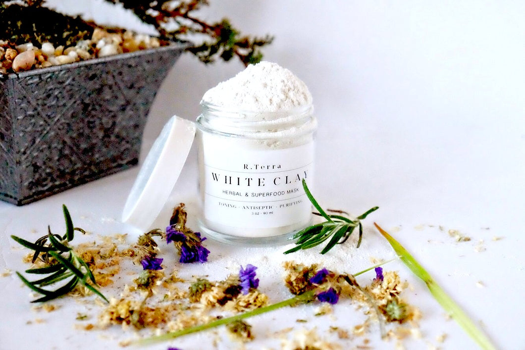 White Clay - Herbal and Superfood Mask - Toning - Antiseptic - Purifying