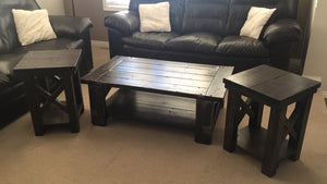 X-Frame Coffee Table Set