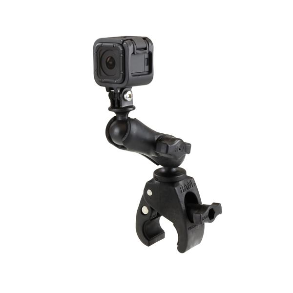 RAM Small Tough-Claw with Universal Action Camera Adapter (RAP-B-400-GOP1U) - RAM Mounts - Mounts Taiwan