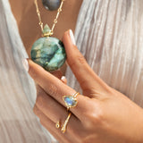 Potion in a bottle - Labradorite Faceted Bomba Size