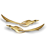 Gold plated phoenix ear climbers