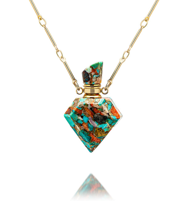 potion in a bottle - diamond Coral Turquoise