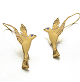 WHAT IS TO DISCOVER YOU HAVE WINGS?  Gold plated sterling silver studded with Swarovski. 2 inches, 3.6 grams  Every Danielle Gerber piece is handmade. Items are made to order, therefore, please allow us up to 10  business days before shipping