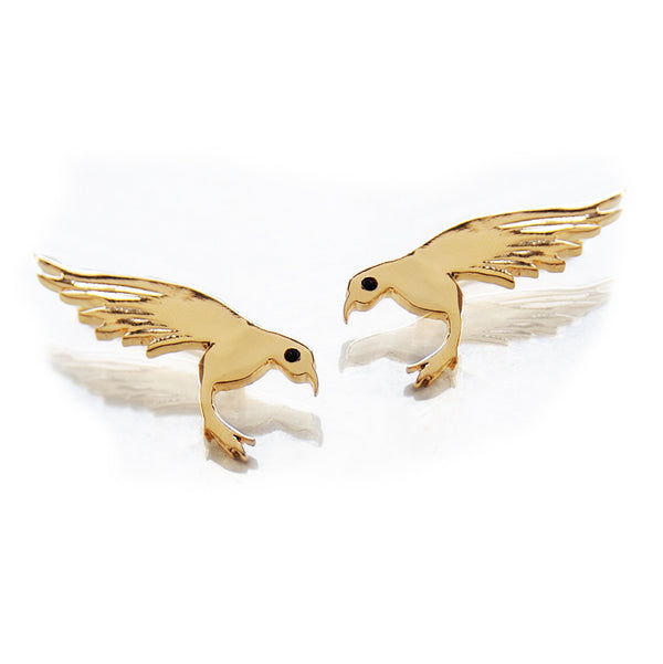 Fly, baby.   14K Gold, studded with magical champagne diamonds. Weight: 3 grams.   Every Danielle Gerber piece is handmade. Items are made to order, therefore, please allow us up to 10  business days before shipping