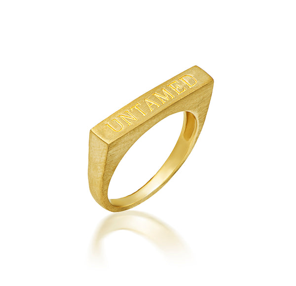 UNTAMED ring - matt gold