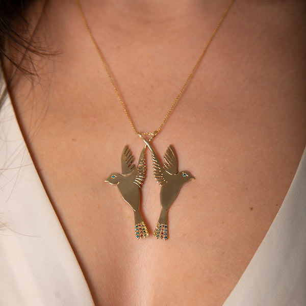 Flying Doves Necklace