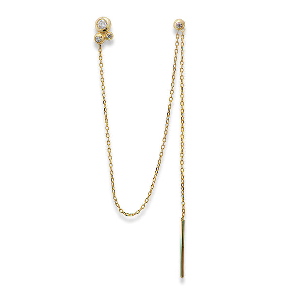 Sutra Earring - 14K gold & diamonds