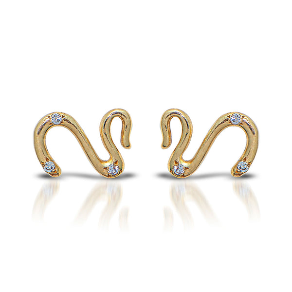 Swan LAAIC- 14K gold & diamonds