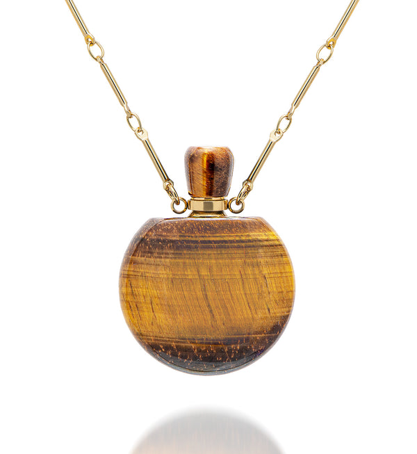 potion in a bottle - Tiger's Eye medium size