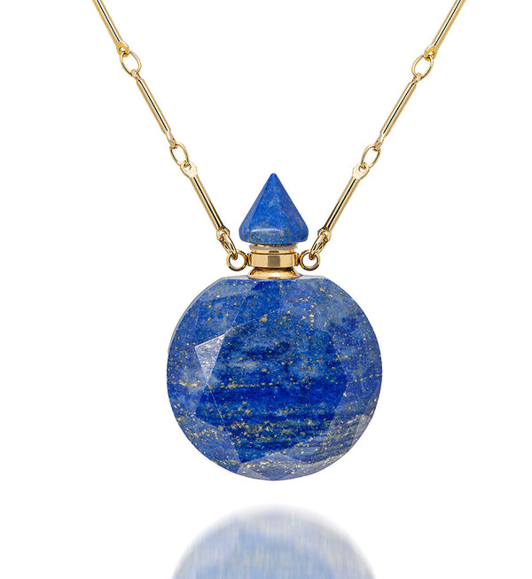 potion in a bottle - Faceted  Lapis
