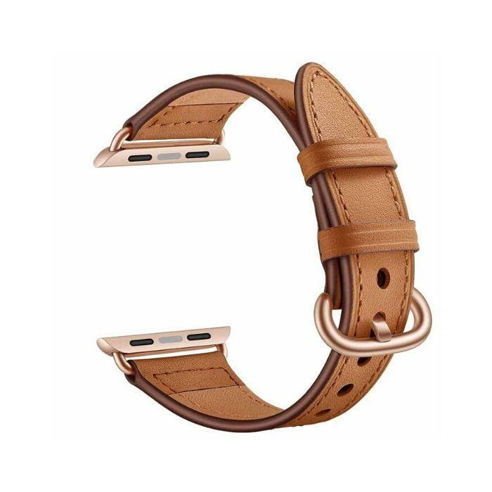 APPLE WATCH SERIES 1, 2 & 3 - 42MM FAUX LEATHER BAND brown