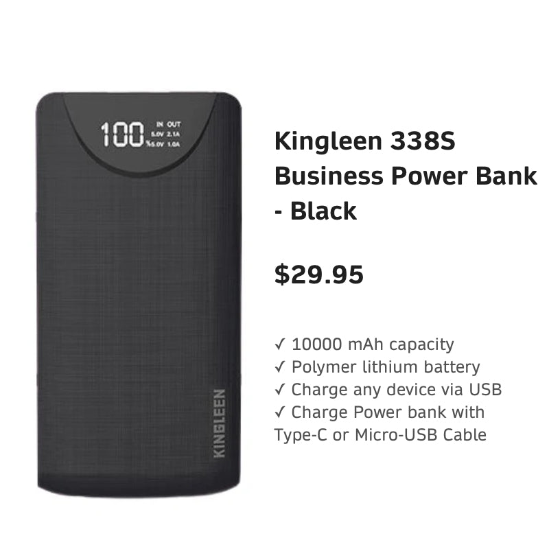 AlcatelGiftPacksForHimKingleen338SBusinessPowerBank-Black