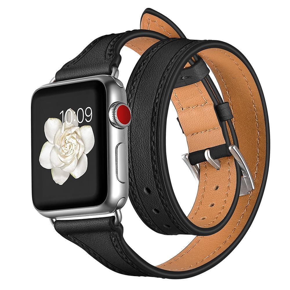Apple Watch Series 1, 2 & 3 Band - 38mm Double Loop Genuine Leather Strap smartwatch