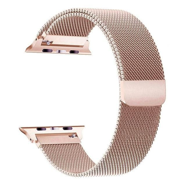 Apple Watch Series 4 Band - 44mm Milanese Loop Strap Rose Gold