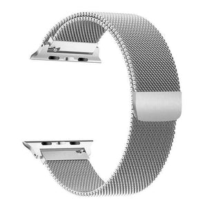 Apple Watch Series 4 Band - 44mm Milanese Loop Strap Silver