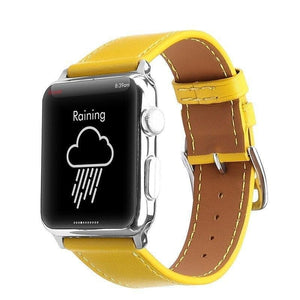 Apple Watch Series 4 Band - 40mm Genuine Leather Strap yellow front