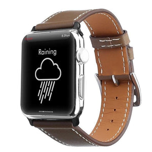Apple Watch Series 4 Band - 40mm Genuine Leather Strap brown front