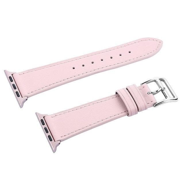 Apple Watch Series 4 Band - 40mm Genuine Leather Strap pink