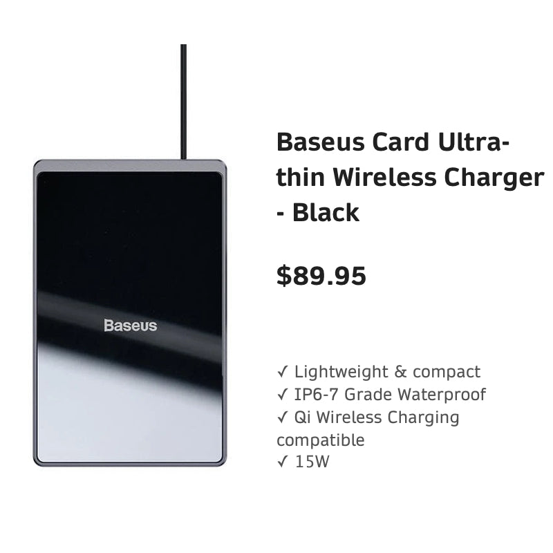 BaseusCardUltra-thinWirelessCharger-Black