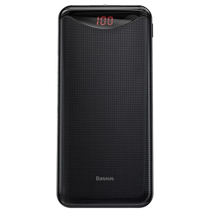 Baseus Gentleman Digital Display Powerbank 10000mAh - Black iPhone
