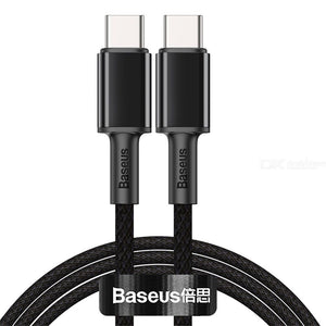 Baseus High Density Braided Fast Charging Data Cable Type-C to Type-C 100W 1m - Black Samsung