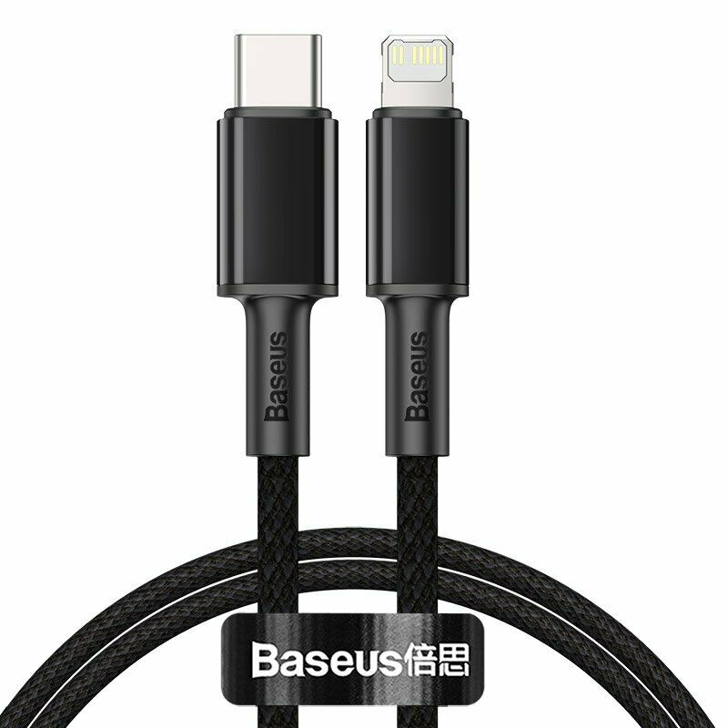 Baseus High Density Braided Fast Charging Data Cable Type-C to iP PD 20W 1m - Black