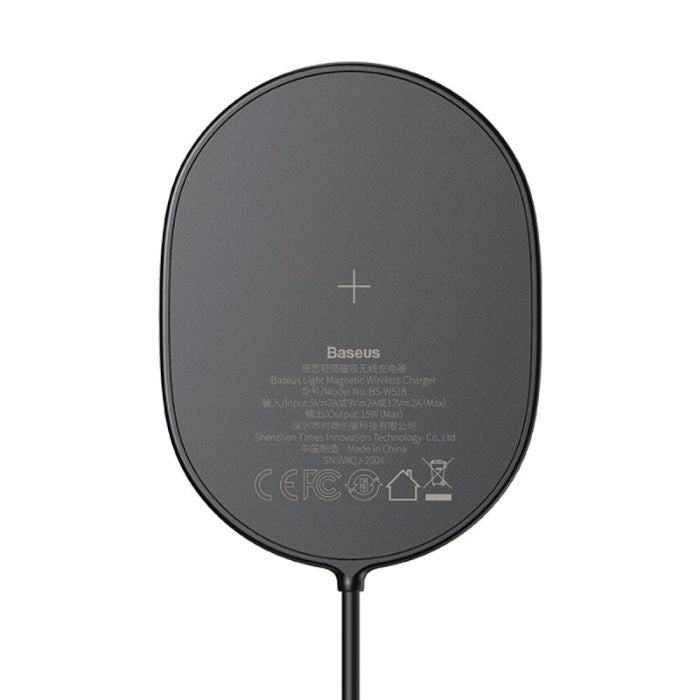 BaseusLightMagneticWirelessCharger-BlackHuawei