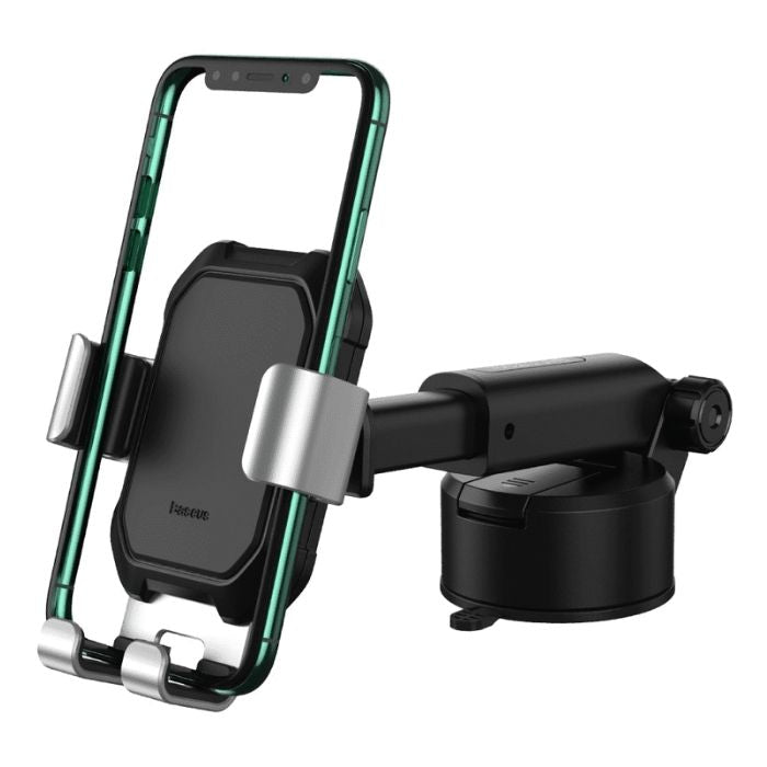 Baseus Tank gravity car mount holder with suction base Tarnish - Black Samsung