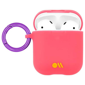 Case-Mate Hookups Neon Case for AirPods 1 & 2 - Pink open