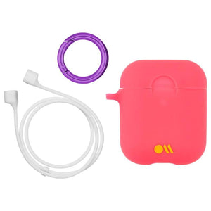 Case-Mate Hookups Neon Case for AirPods 1 & 2 - Pink protector