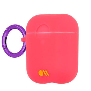 Case-Mate Hookups Neon Case for AirPods 1 & 2 - Pink side