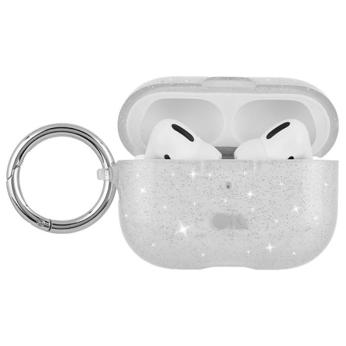 Case-Mate Sheer Crystal Hookups AirPods Pro - Clear/Silver Circular Ring