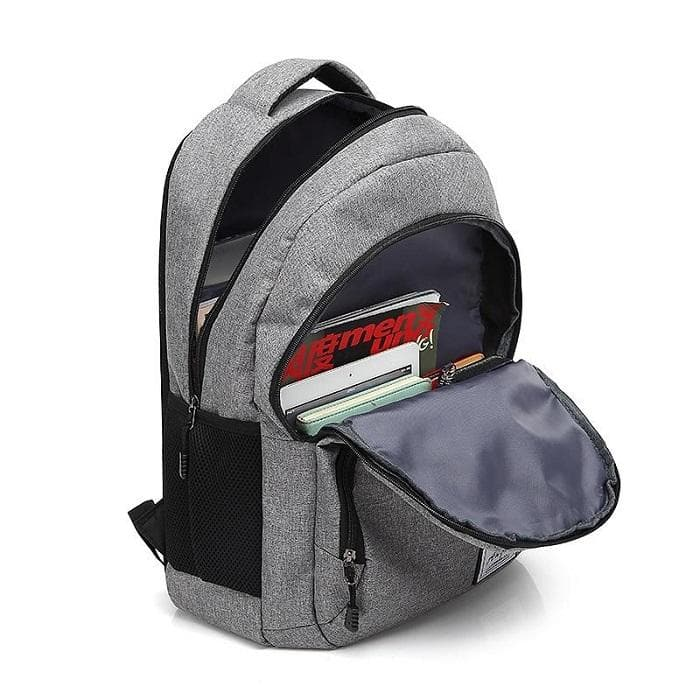 Casual Backpack with USB Charging Port open