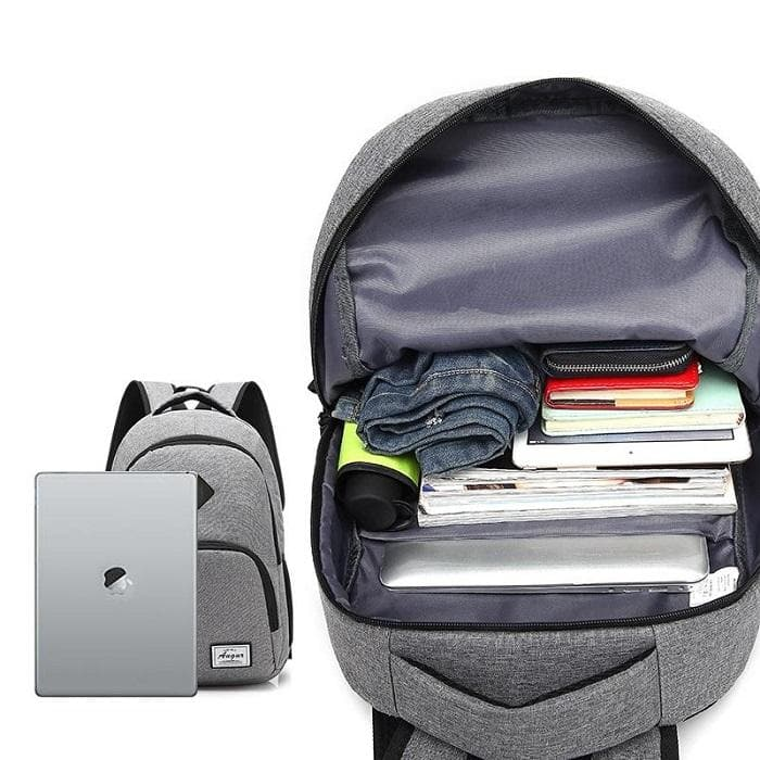Casual Backpack with USB Charging Port space