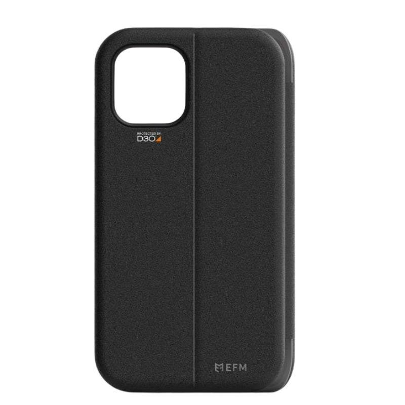 EFM Miami Wallet Case Armour for iPhone 12 Pro Max - Smoke Black