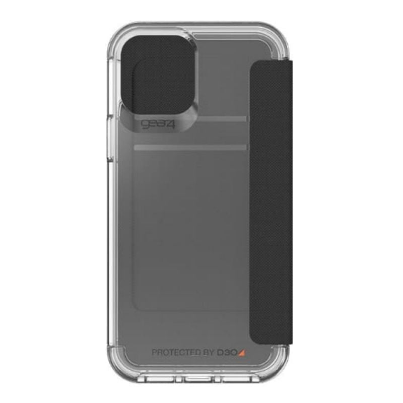 Gear4 D3O Wembley Flip Case For iPhone 12/12 Pro - Clear