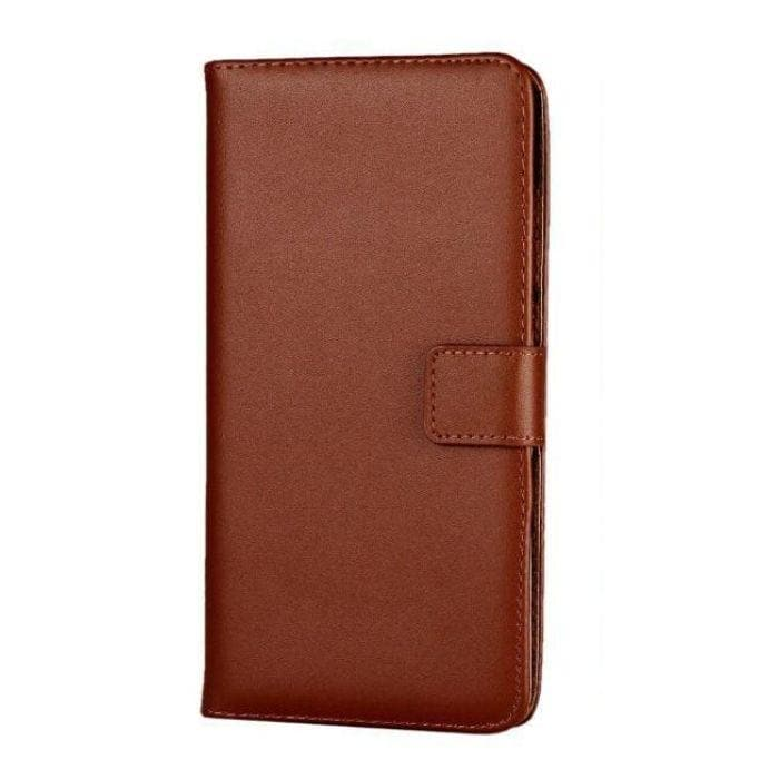Genuine Leather Wallet Case for Sony Xperia XZ Premium