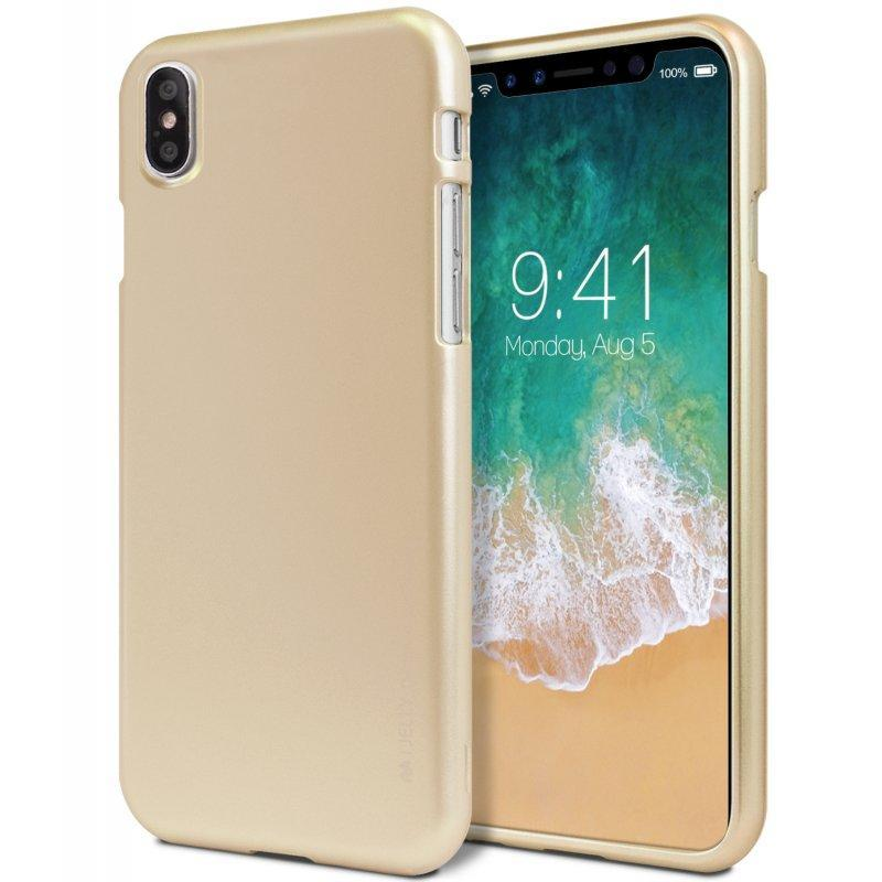 Mercury iJelly Metal Case for iPhone XS Max - Gold - Smartphonesshop