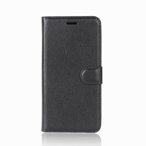 Leather Wallet Case for Samsung Galaxy J2 Pro - Black