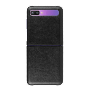 Leather Case For Galaxy Z Flip-Black
