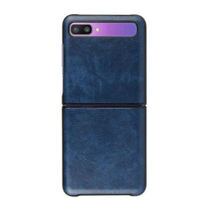 Leather Case For Galaxy Z Flip-Blue