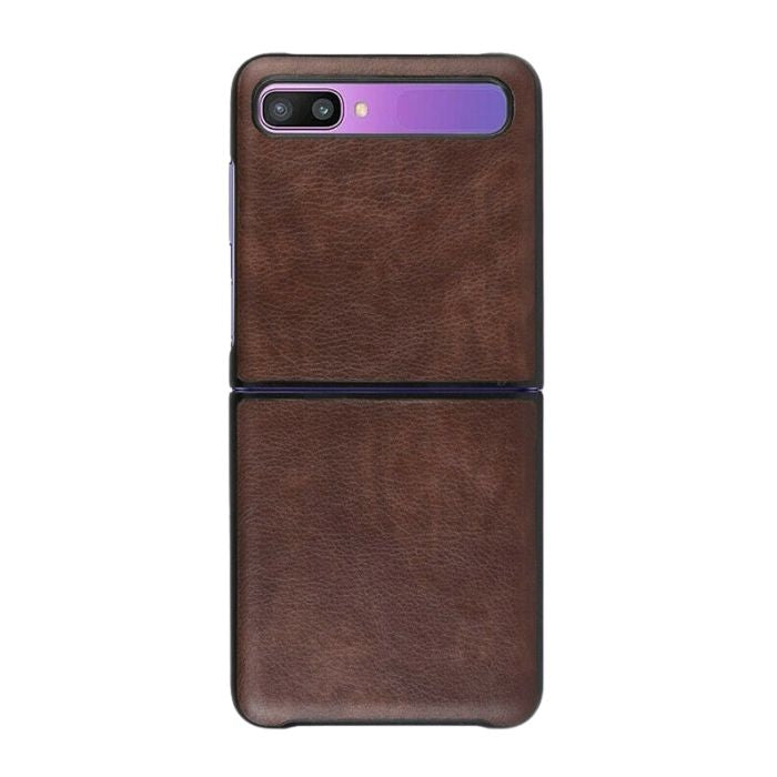 Leather Case For Galaxy Z Flip-Brown