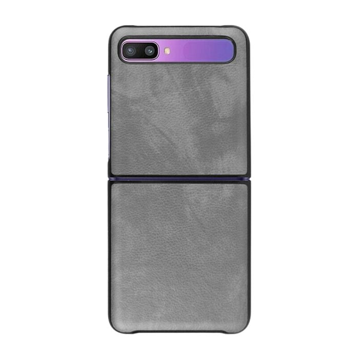 Leather Case For Galaxy Z Flip-Grey