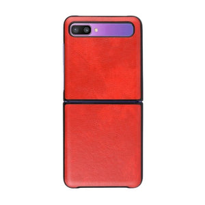 Leather Case For Galaxy Z Flip-Red