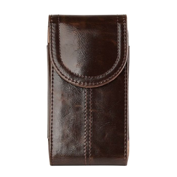 Leather Phone Belt Holster - Brown