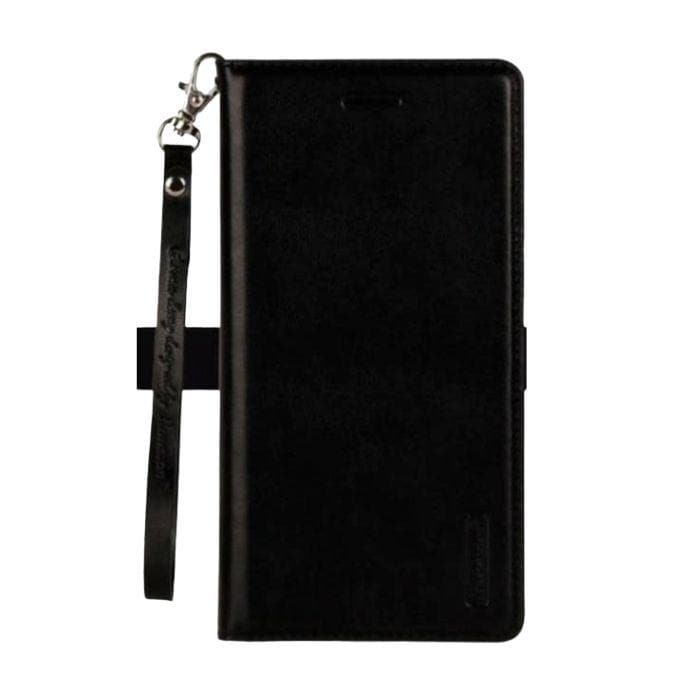 Leather Wallet Case for OPPO A73 black
