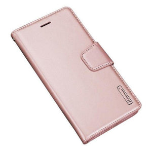 Luxury A72 Wallet Case-Rose Gold